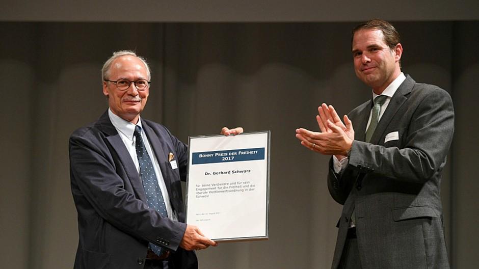 Preis für die Freiheit: Publizist Gerhard Schwarz ausgezeichnet