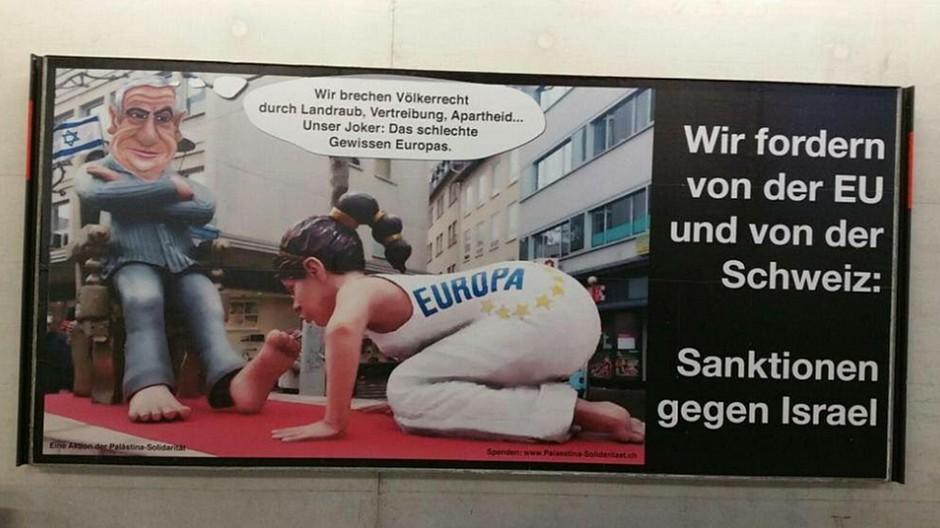 SBB: Rassismus-Anzeige wegen Israel-Plakat