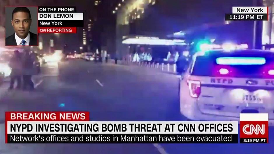 CNN: Redaktion nach Bombendrohung evakuiert