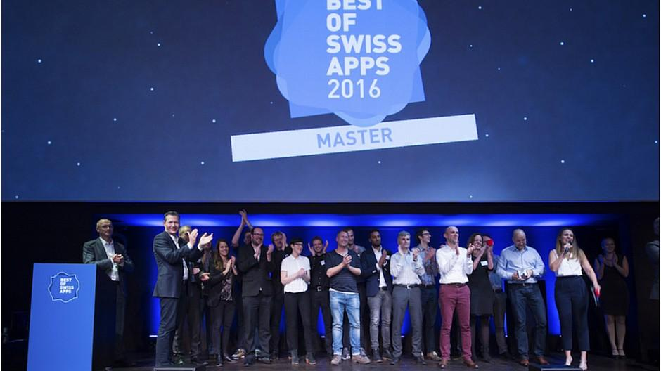 Best of Swiss Apps Award Night 2016: «SBB Mobile vNext» ist Master of Swiss Apps