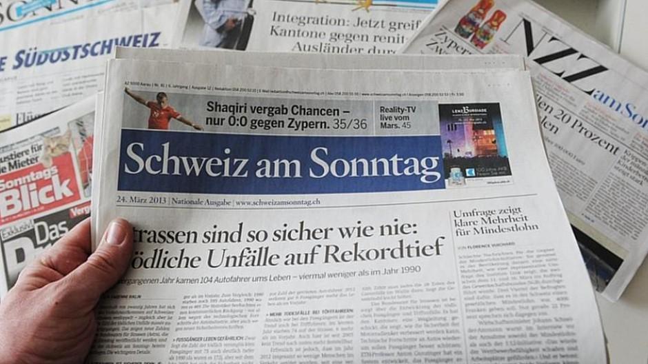 AZ Medien: Die «Schweiz am Sonntag» wird eingestellt