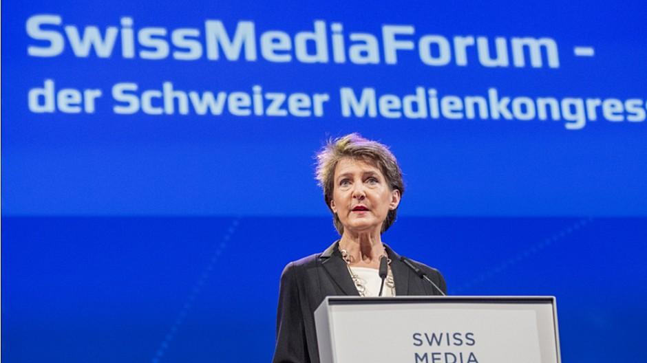 SwissMediaForum: Simonetta Sommaruga eröffnet den Medienkongress