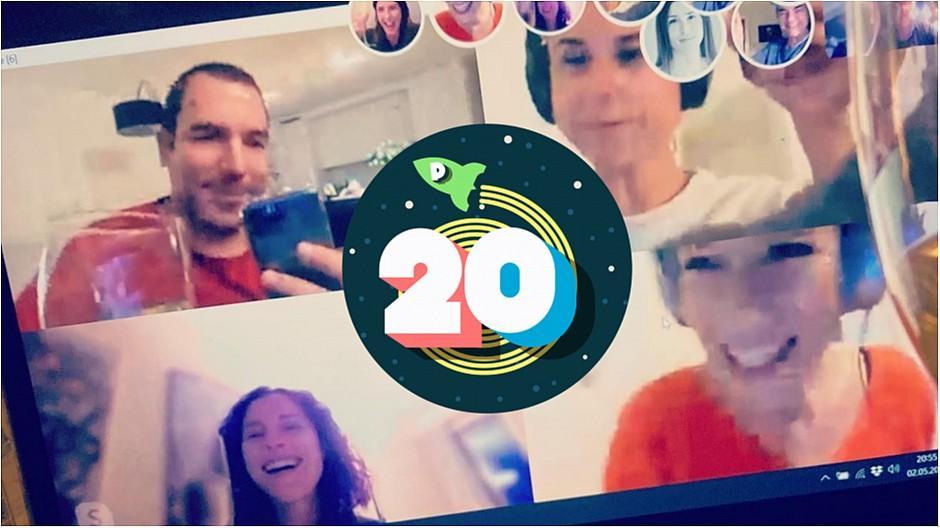 20 Jahre persoenlich.com: So stiess das Team auf das Jubiläum an