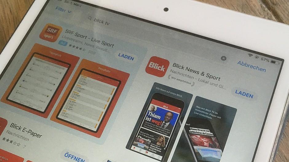 Blick TV: SRF-App erscheint vor Blick