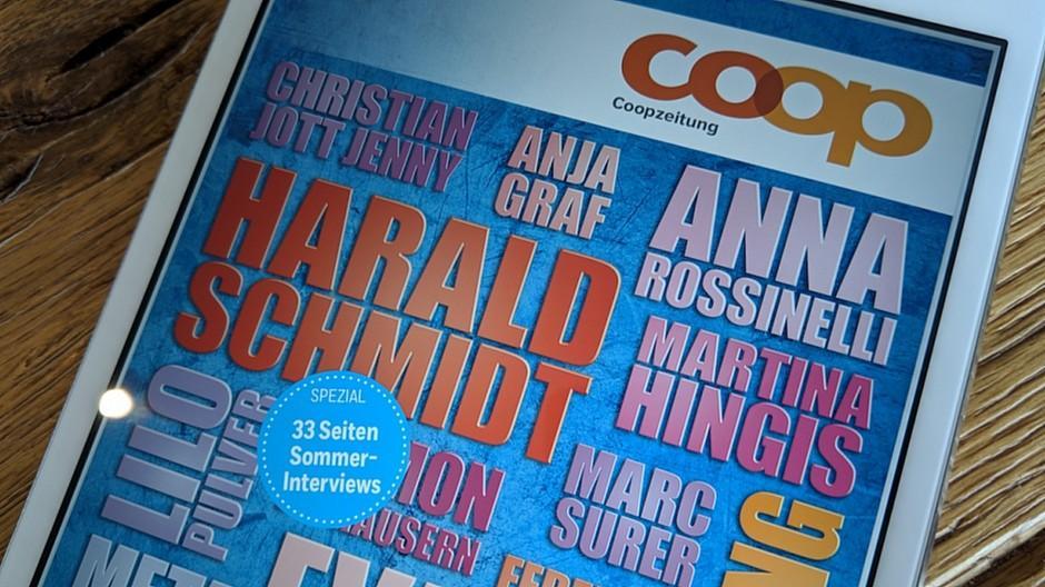 Coopzeitung: Stars für Spezialausgabe interviewt