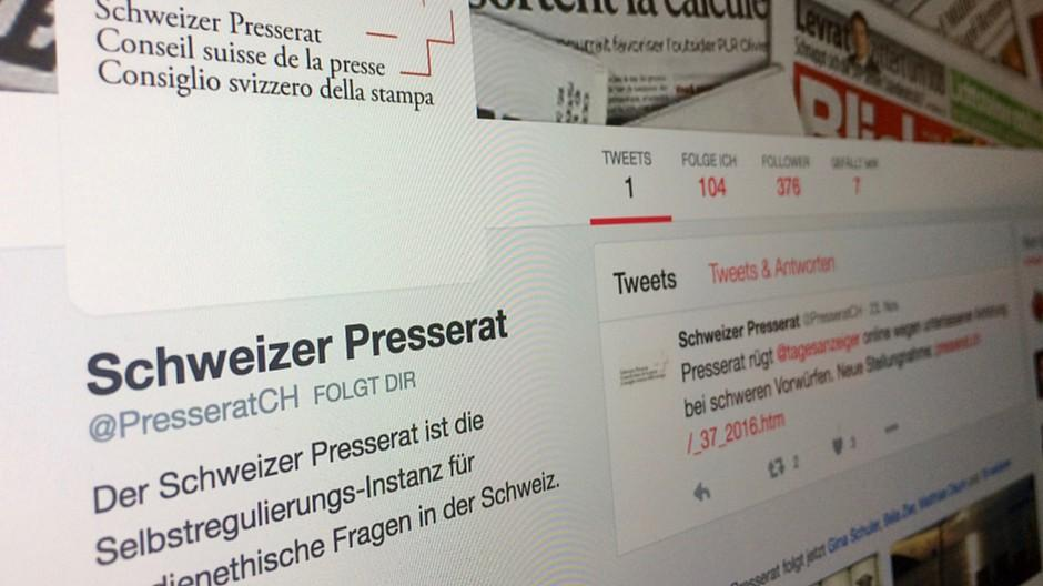 Schweizer Presserat: Stellungnahmen werden jetzt auch getwittert