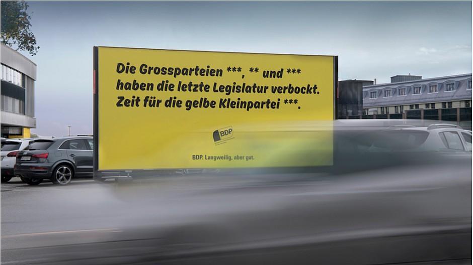 Pam Advertising: Sternchentext und löchriger Käse für BDP
