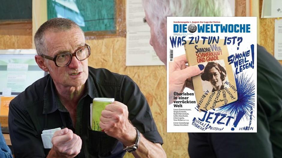 Weltwoche: Thomas Hirschhorn gestaltet Cover