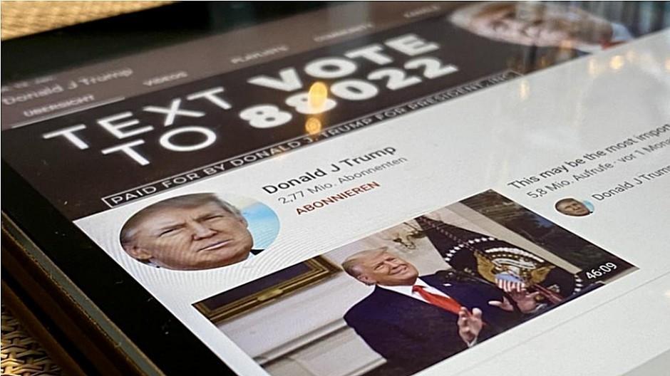 YouTube: Trump-Kanal für eine Woche gesperrt