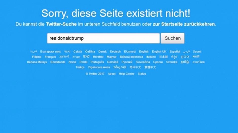 Twitter: Trumps Account kurzzeitig nicht erreichbar