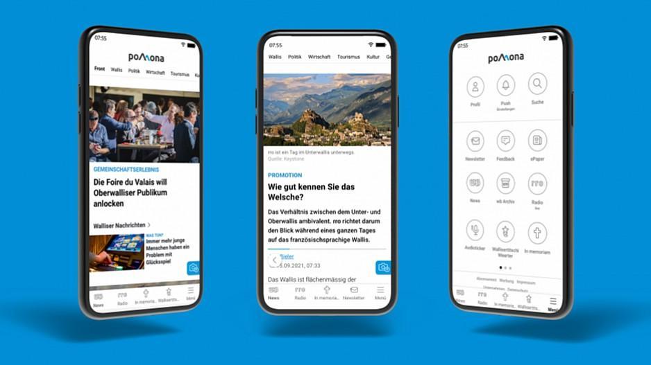 Mengis Media: Walliser Bote und RRO erhalten neue App
