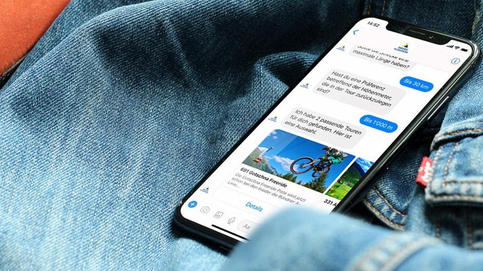 Spot Werbung: Wandern und Biken mit dem Chatbot