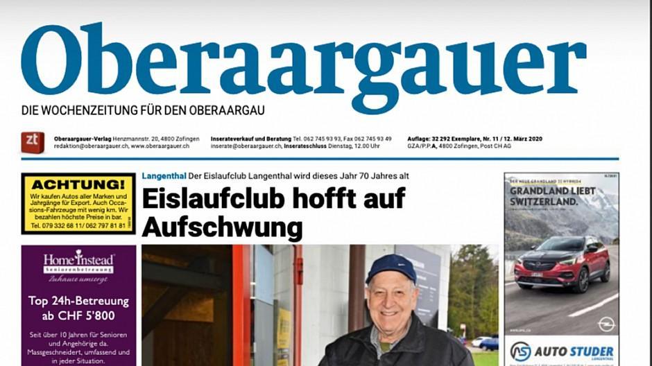 ZT Medien: Wochenzeitung Oberaargauer eingestellt