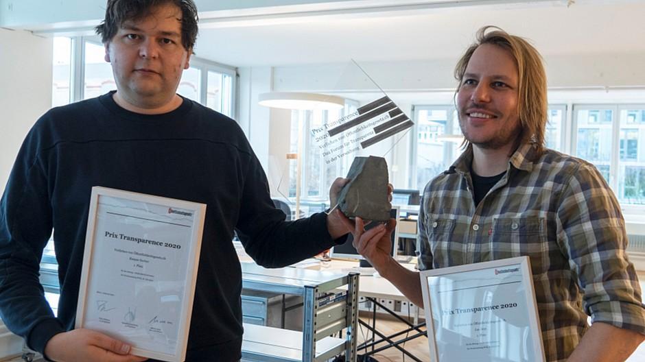 Auszeichnung: Woz-Journalisten erhalten Prix Transparence