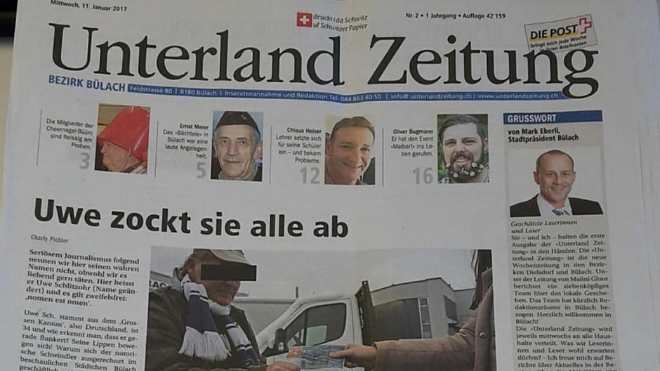 Zehnder Verlag: «Unterland Zeitung» ist erstmals erschienen