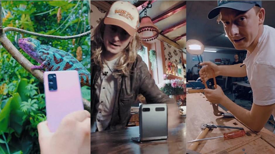 Social Kampagne: Supercedi verwirrt für Samsung ein Chamäleon