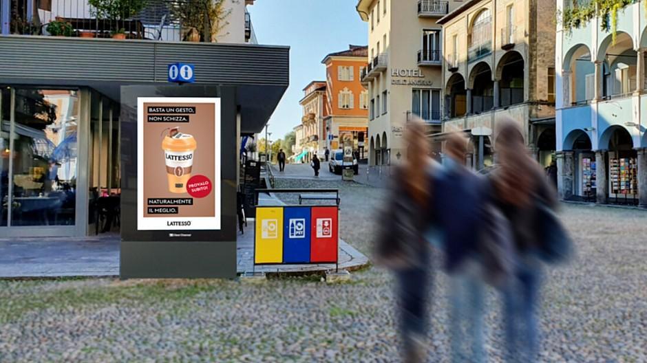 Clear Channel: Vier neue Screens inmitten von Locarno