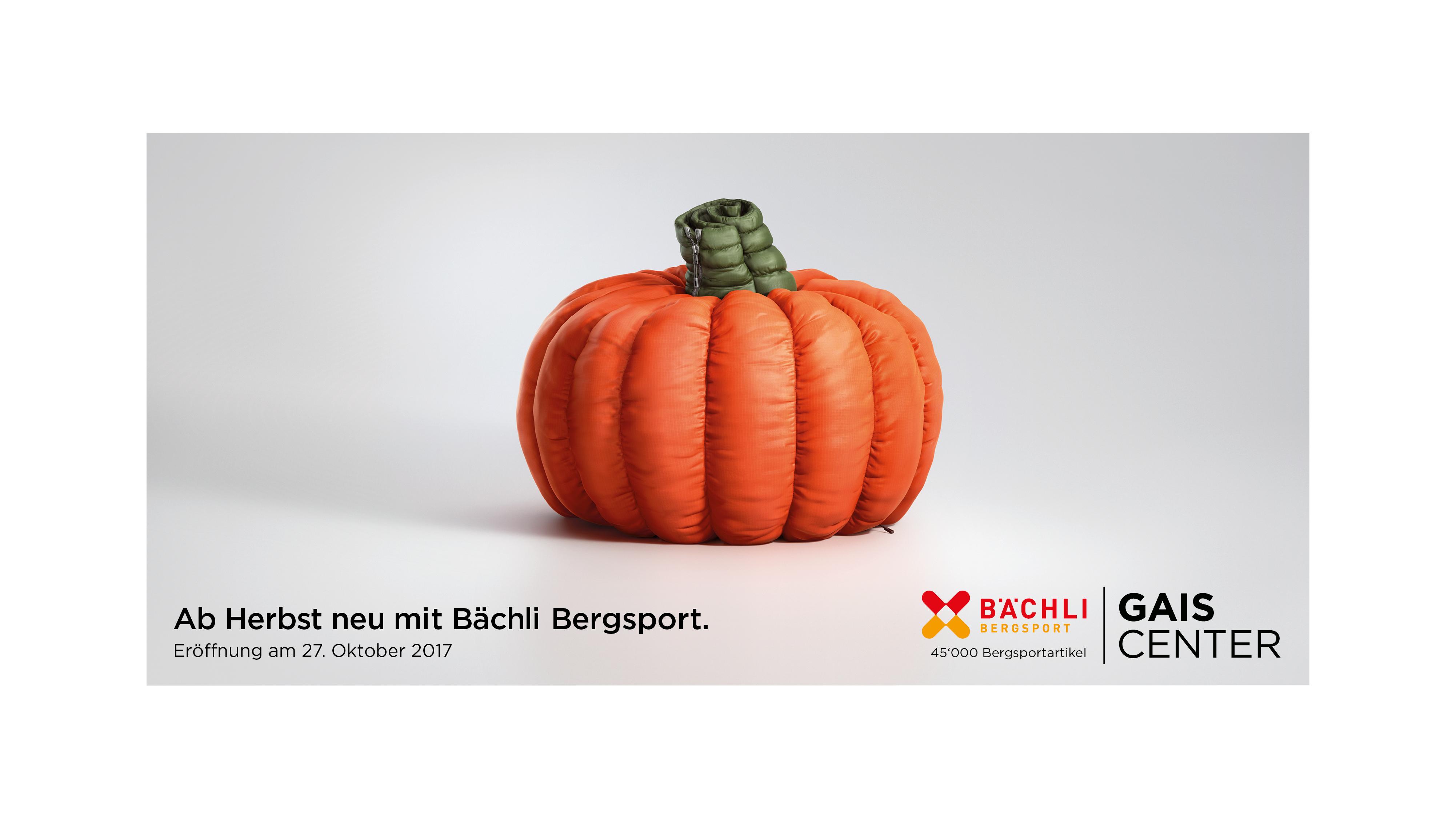 fff9580bb7c787 Thjnk Zürich  Eine Steppjacke in Kürbis-Form - Werbung