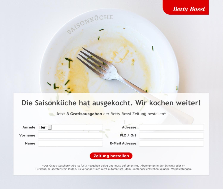 betty bossi: ausgekochte aktion gegen die migros - werbung - Saison Küche