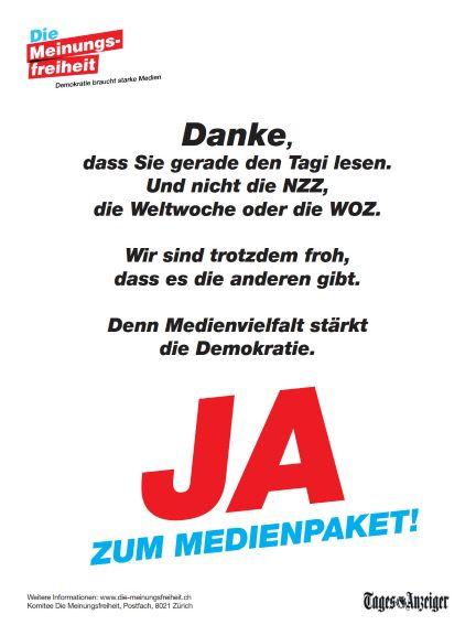 Die Meinungsfreiheit_Lancierungsinserat_Deutsch