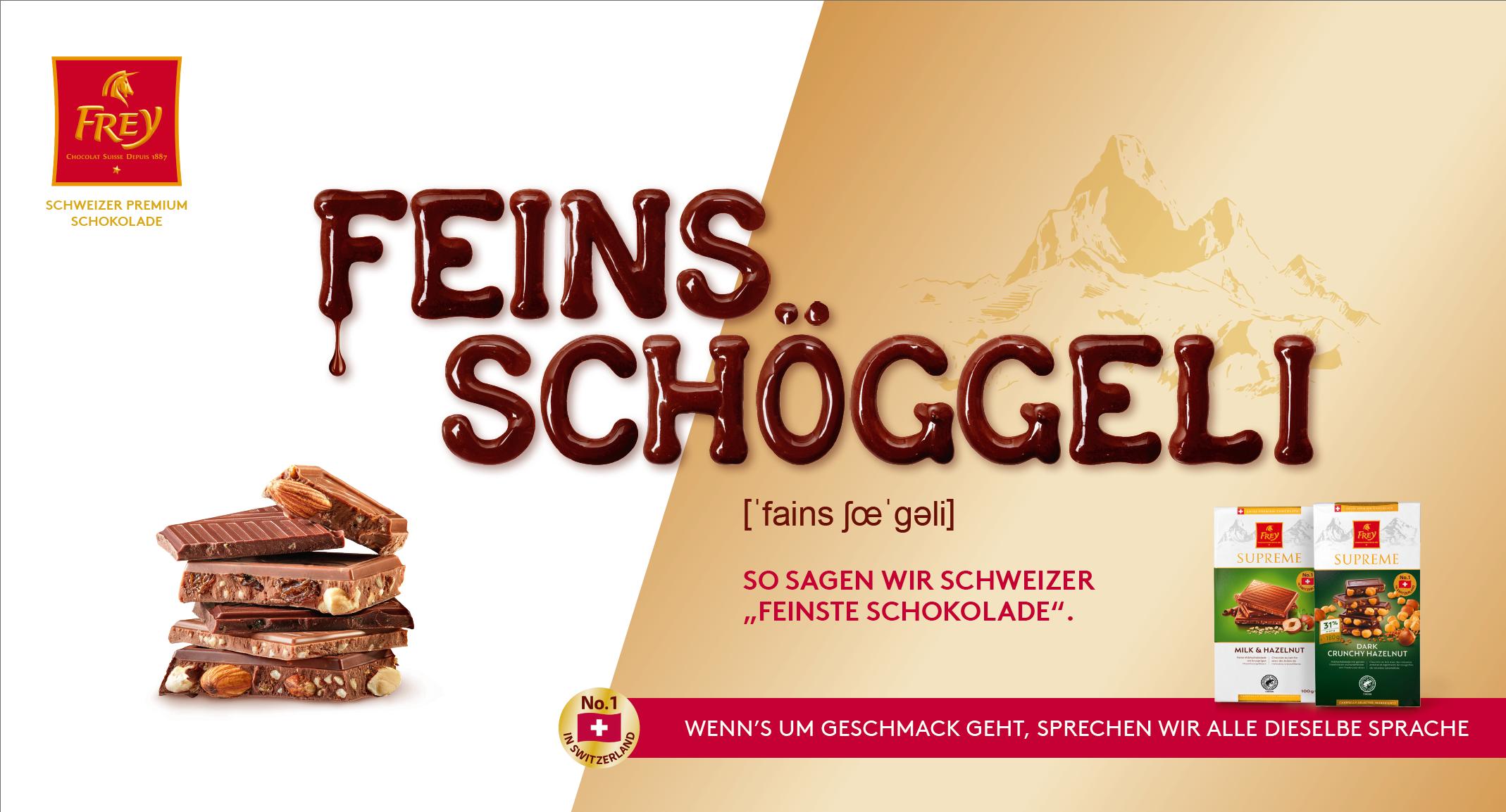 FREY KeyVisual - FEINS SCHÖGGELI Kampagne