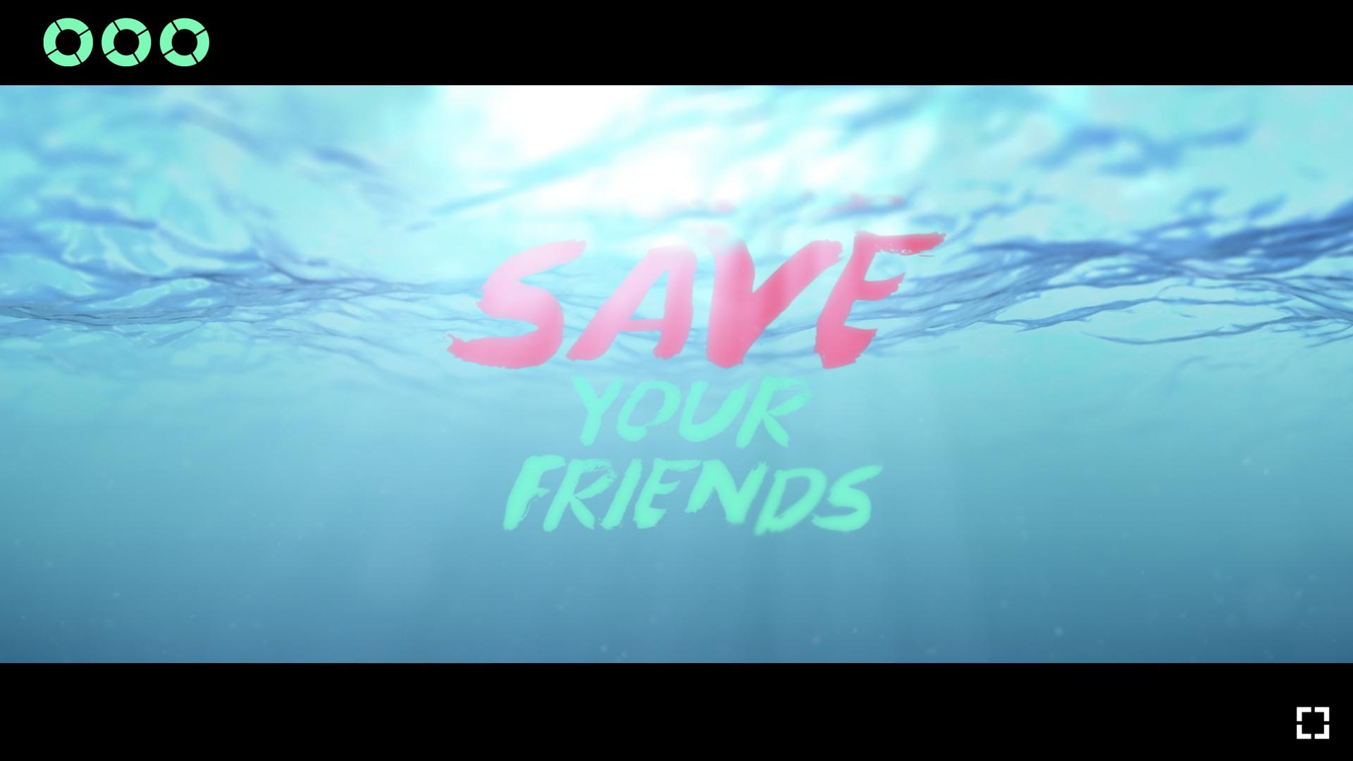 Logo SYF auf Wasser