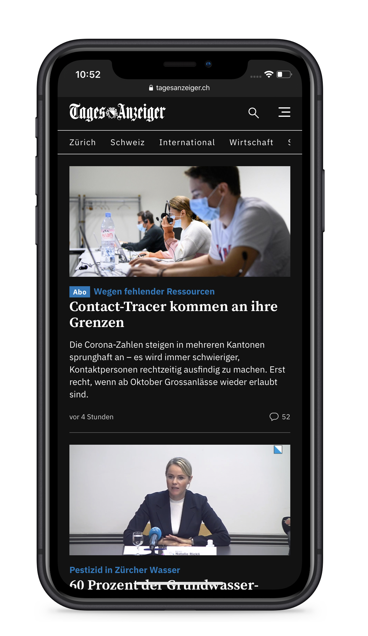 Tages-Anzeiger - iPhone - Front