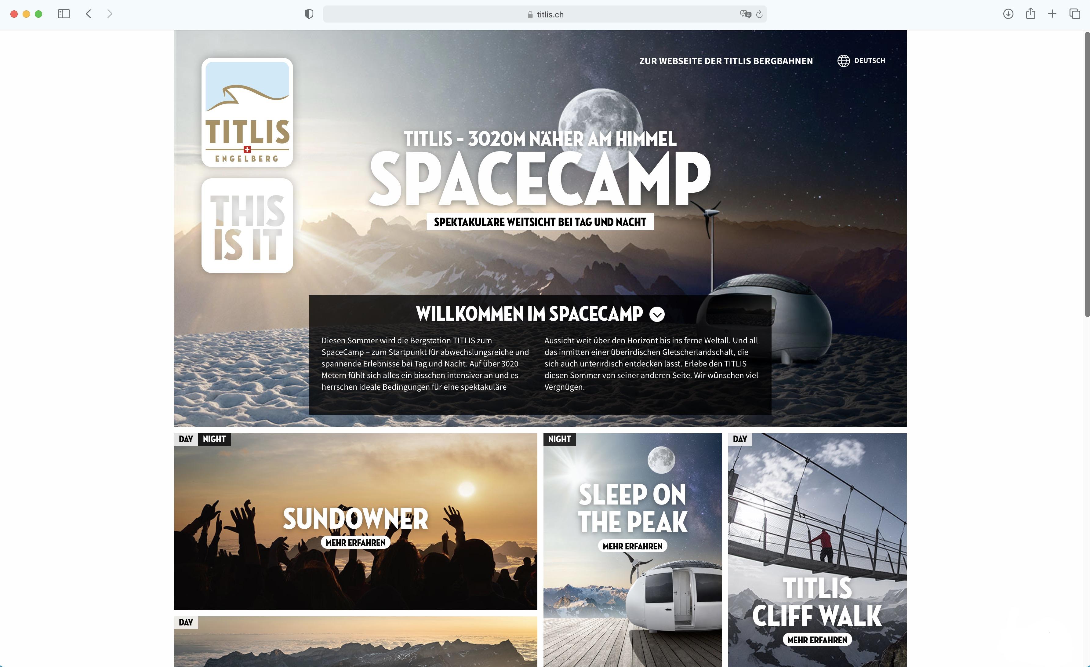 Titlis_Landingpage