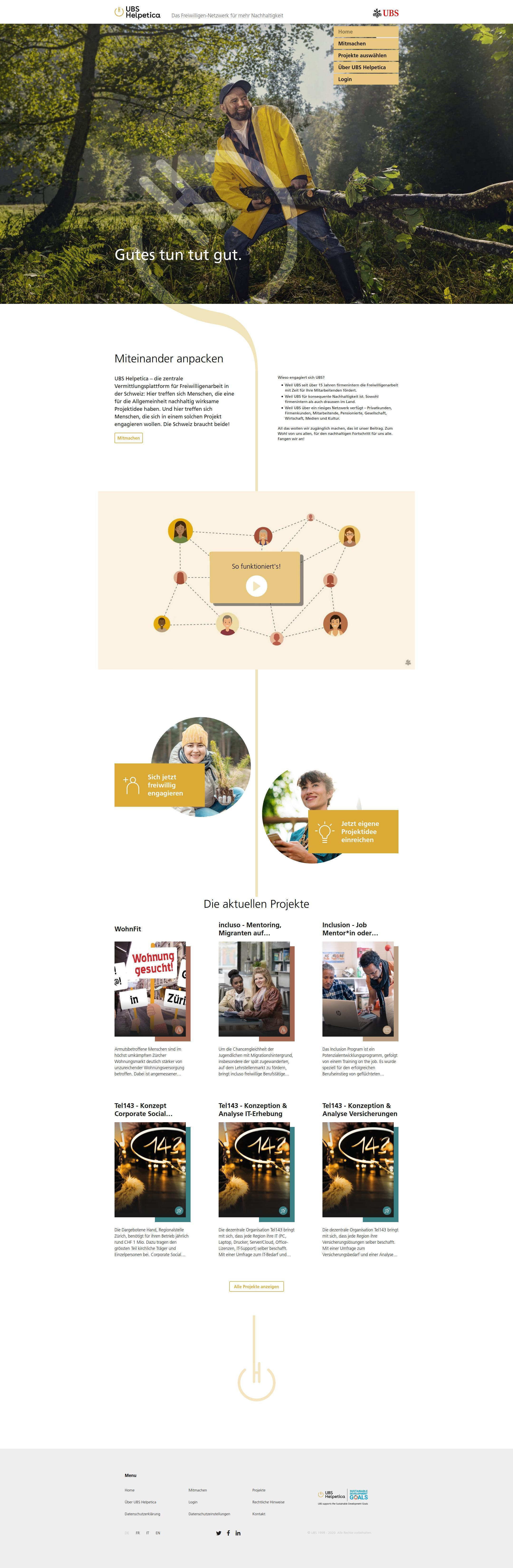 UBS Helpetica Webseite screenshot