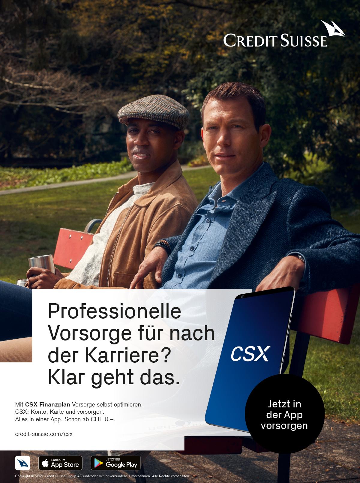 thjnk_CreditSuisse_CSX_Vorsorgen_Anzeige