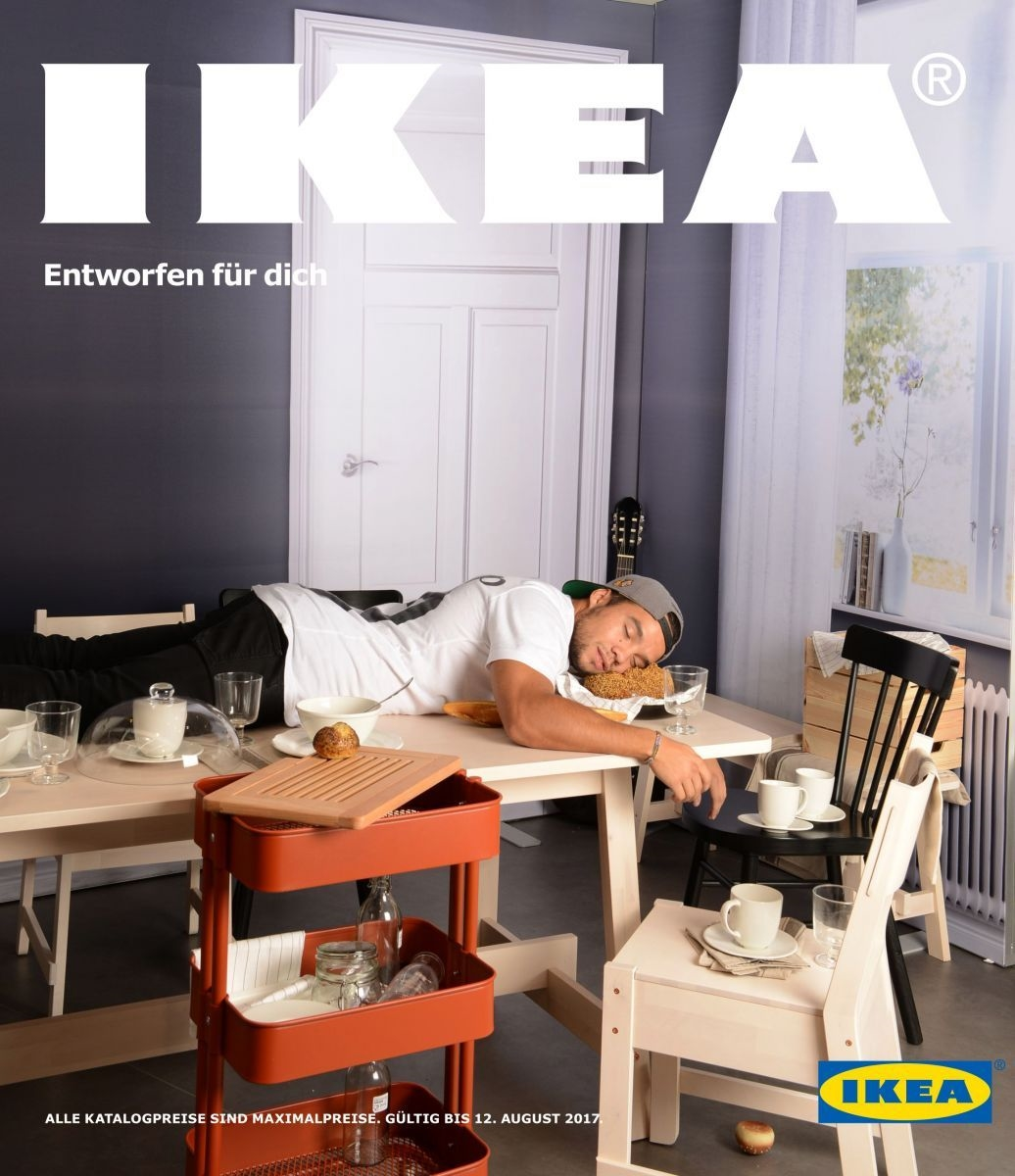 jeff jeder wird zum titelstar des ikea katalogs marketing. Black Bedroom Furniture Sets. Home Design Ideas