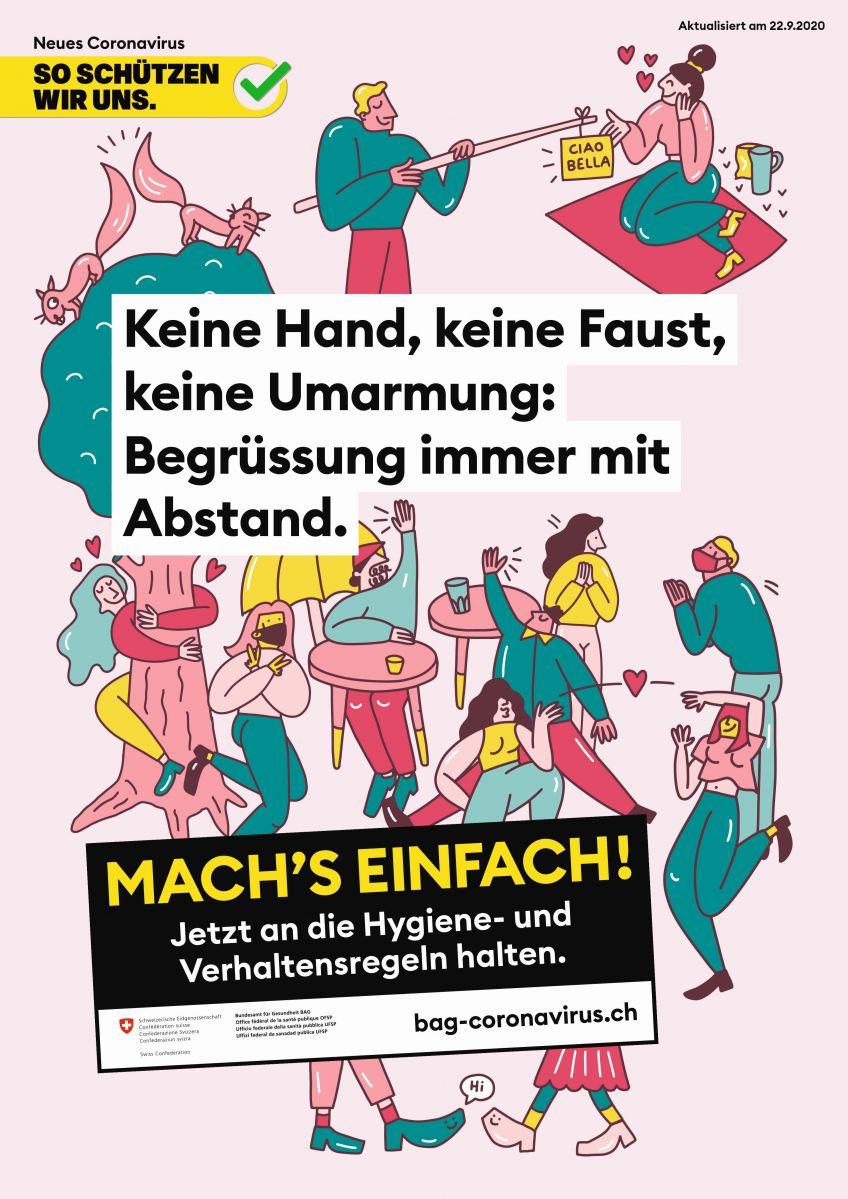 Krisenkampagne des BAG: Das neue Motto lautet «Mach's einfach!» - Werbung