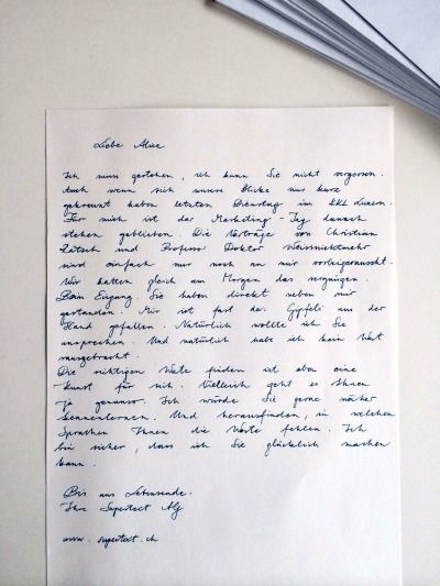 Briefe Mit Vermerk Persönlich : Supertext von quot genial bis primitiv pr corporate