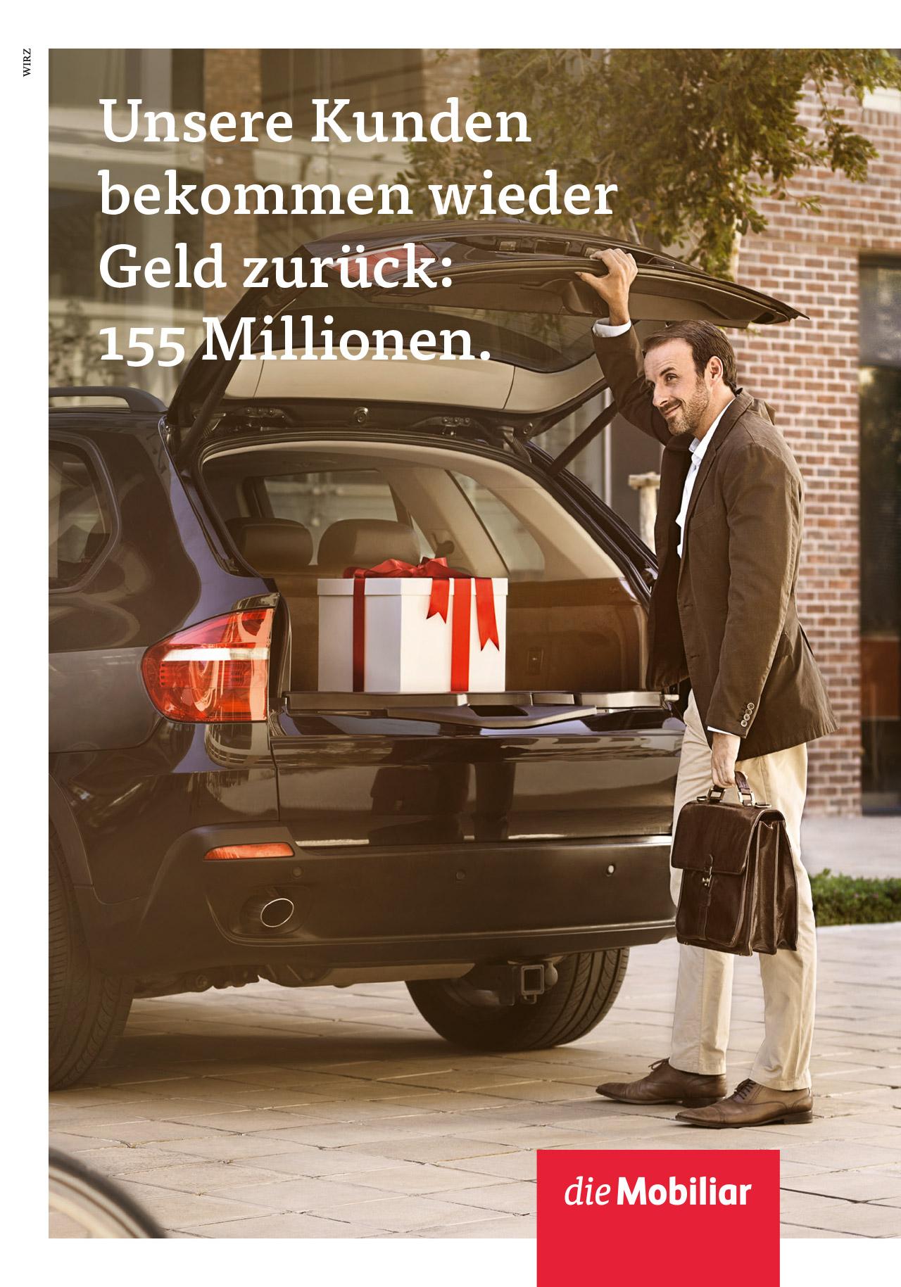 Wirz 155 millionen f r die kunden der mobiliar werbung for Versicherung mobiliar