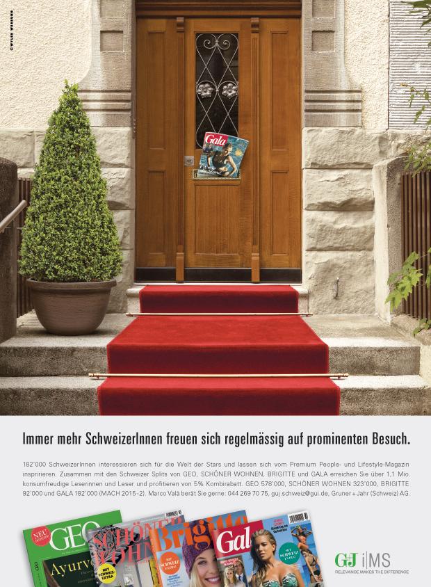 Gruner Und Jahr Zeitschriften wyler werbung mehr für gala werbung