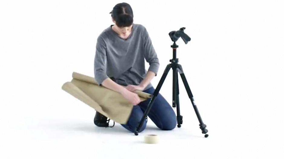 plan b wie man ein gebrauchtes stativ verpackt werbung. Black Bedroom Furniture Sets. Home Design Ideas